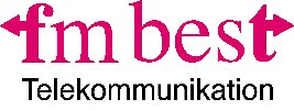 "Logo for ""fm best telekommunikation"""